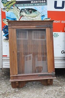 Used, Antique Oak Showcase / Display Case / Gun Cabinet / Poster Case for sale  Bel Air