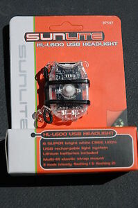SUNLITE-HL-L600-USB-Head-Front-Light-6-LED-Bike-Bicycle-Safety-Clear-NEW