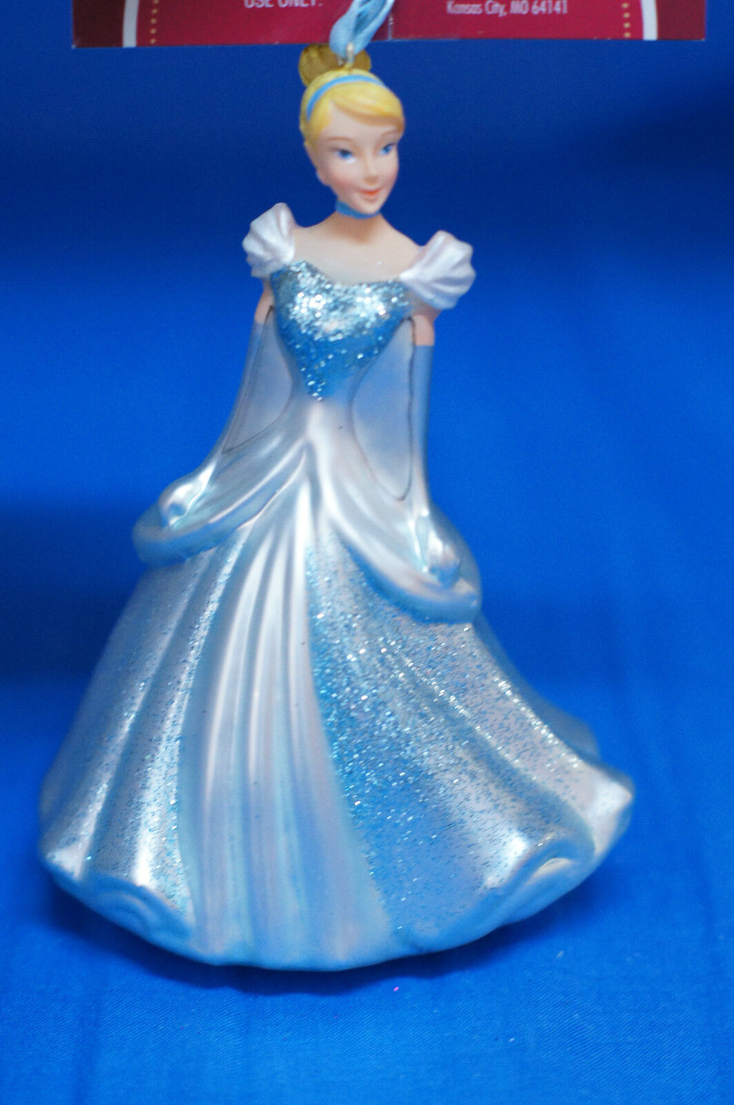 Disney Cinderella Blown Glass Figurine Christmas Ornament W/ Tag 2012