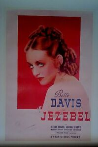 JEZEBEL-Licensed Movie POSTER-90cm x60cm-Brand New-Bette Davis-Vintage-Old