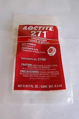 Loctite 271 Red Threadlocker High Strength One Time Use .5 Ml Free Shipping