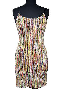 2483 Free People Intimately Multicolored Ribbed Knit Slip Dress Sz Medium M $68