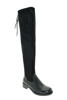 Stivali donna alti sopra il ginocchio camoscio stivale alla coscia tacco basso