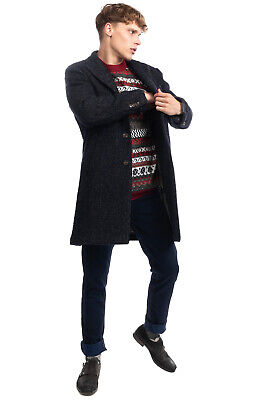 RRP€860 LARDINI Boucle Coat Size 48 / M Alpaca Mohair & Wool Blend Made in Italy