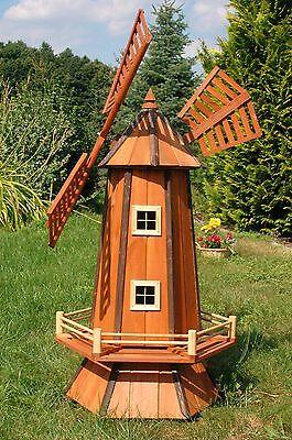 Windmühle, Windmühlen, Holzwindmühle 1,3 m  imprägn. und kugelgel., Garten Wm130