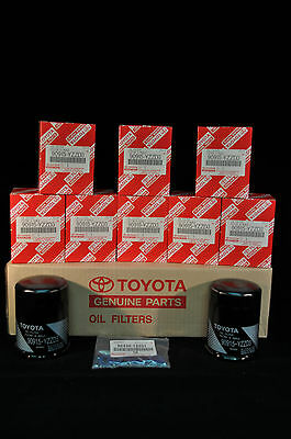 90915 YZZD3 Qty 10 Toyota  Lexus Oil Filters With Drain Plug Gaskets