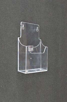 SALE: 5 x A5 Wall Mountable Leaflet Holder Retail Menu Dispenser - LDS4061