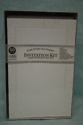 INVITATION Kit Party BRIDE Wedding CREATE Your OWN PEARL Swirl 50 Count GARTNER