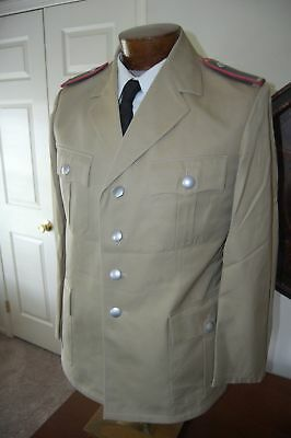 Post WW2 West German Army Tropical Tunic Uniform with Panzer Shoulder Boards