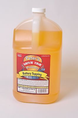Popcorn Machine Supplies - Buttery Oil Topping - One Gallon