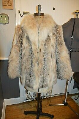 vintage canadian brown lynx spotted fox fur coat -