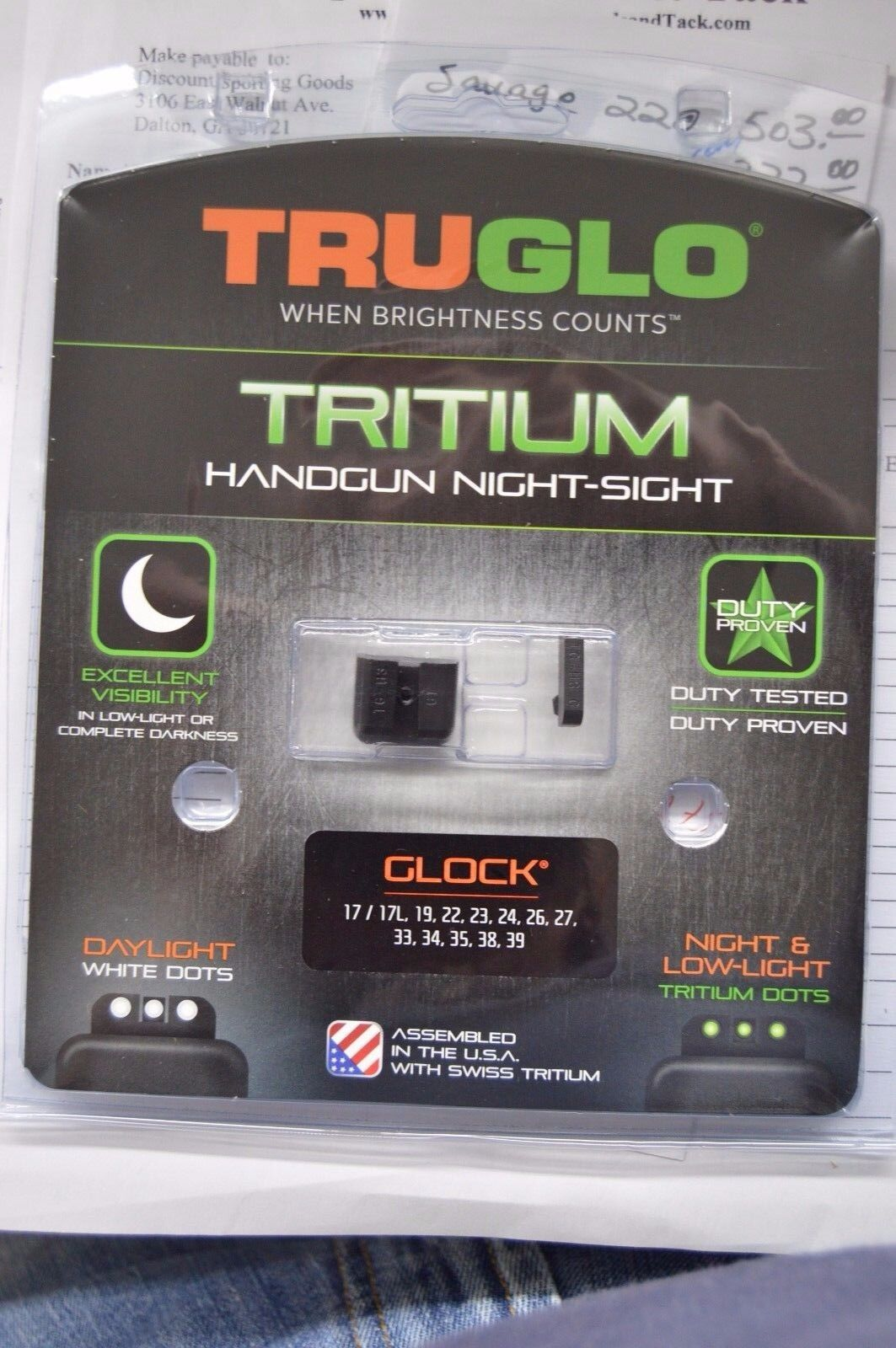 Купить Truglo - TruGlo-Tritium-Night-Sight-Set For Glock 17/17L,19,22,23,24,26,27,33,34,35,38,39