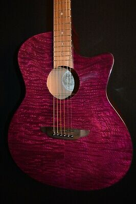 Luna Gypsy QA Quilt Ash Trans Purple Acoustic ELECTRIC Guitar - Free Shipping!