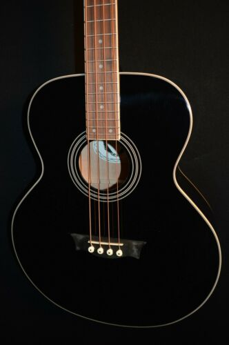 Dean EAB 4 String Classic Black Acoustic Electric Bass Guitar w/Preamp/Tuner