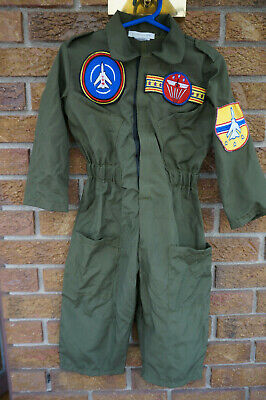 Fighter Pilot Outfit (COSTUME Jumpsuit Outfit Top Gun Pottery Barn Kids Fighter PILOT Olive Green)