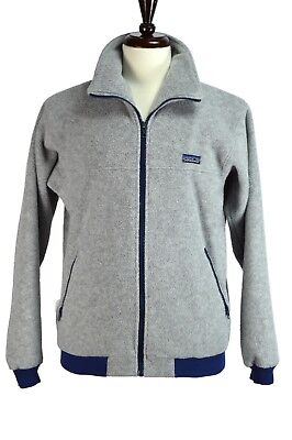 PATAGONIA Sweater Size MEDIUM M Grey Full Front Zip USA (Grey Full Zip Sweater)