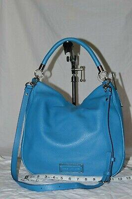 NEW MARC JACOBS Too Hot to Handle Blue Italian Leather Crossbody Hobo Bag (Marc Jacobs Too Hot To Handle Handbag)