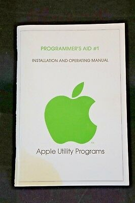 Rare Apple II Programmer's Aid #1 Installation Operating Manual 1978