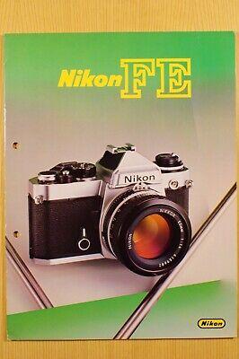 NIKON FE Spiegelreflex, Prospekt A5, 20 Seiten, Objektive und Zubehör, 1982 gebraucht kaufen  Versand nach Austria