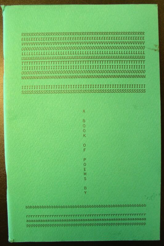 """""""Revolution Is"""" A book of poems by B. Rap -1971 -1st Edition"""