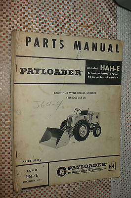 Ih International Hah-e Front-end Wheel Pay Loader Tractor Operators Manual Hough