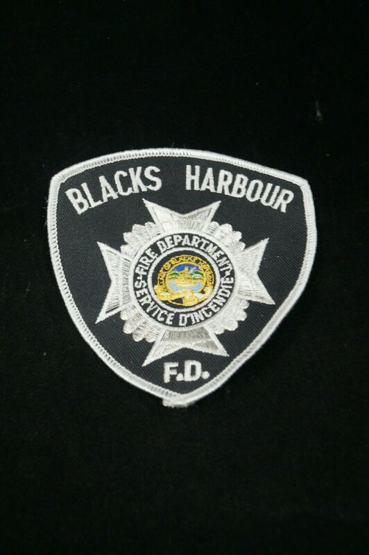 Canadian Blacks Harbour Firefighter Fire Department Patch