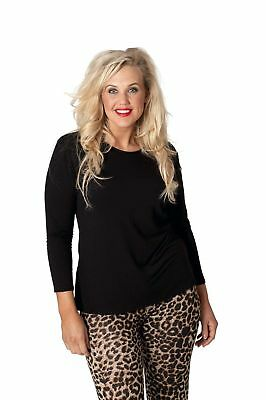 New Womens Top Plus Size Ladies T-Shirt Long Sleeve Plain Soft Bargain Nouvelle (Plus Size Bargains)