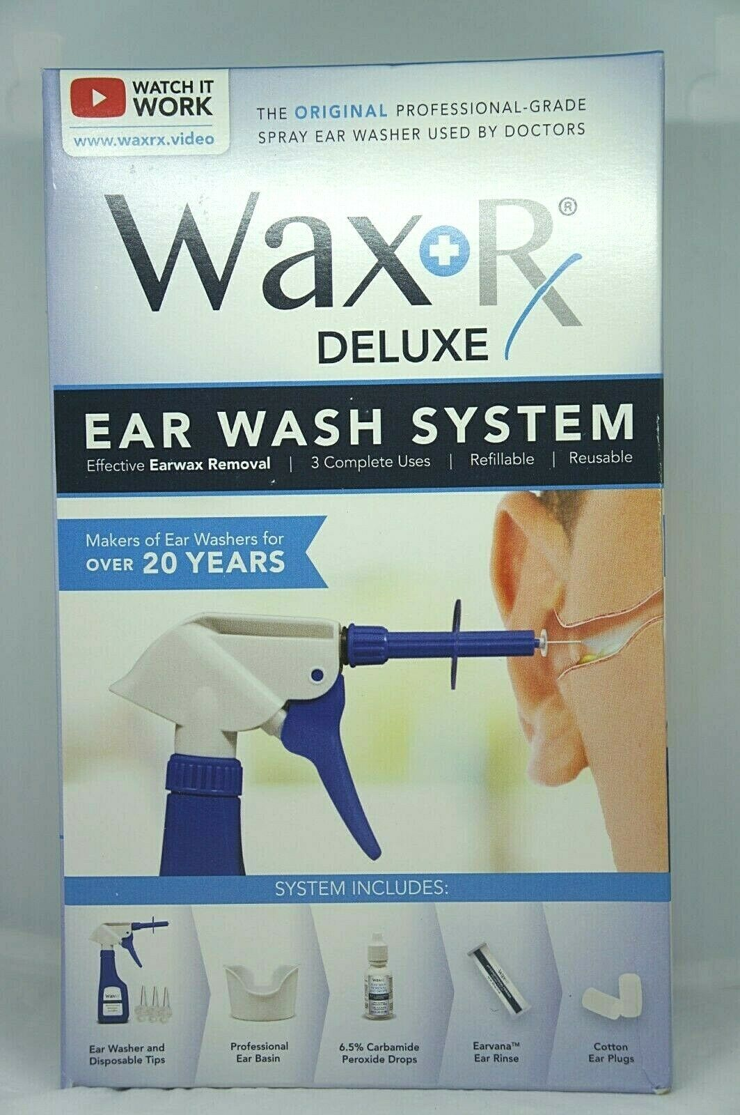 Dr. Easy Wax Rx Deluxe Ear Wash System - Effective Ear Wax R