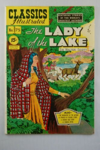 CLASSICS ILLUSTRATED COMICS #75 THE LADY OF THE LAKE HRN 85 FN+