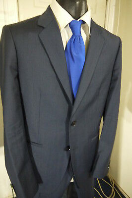 THEORY SIZE 40R BLUE 2 BUTTON SUIT W/DUAL VENTS