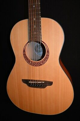 Luna Gypsy Muse Parlor Spruce Acoustic Guitar w/ Gig Bag & Tuner- Free Shipping!