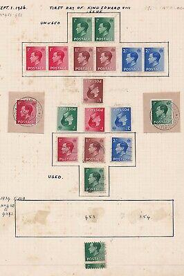 Lot:38968  GB EDVIII  1936 definitive selection