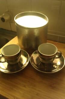 Set of Silver Espresso Coffee Cups