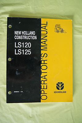 New Holland Construction Ls120 Ls125 Skid Steer Loader Operators Manual 1999