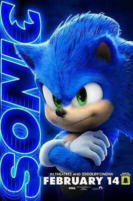 Sonic The Hedgehog movie poster (h)  - 11 x 17 inches - Sonic