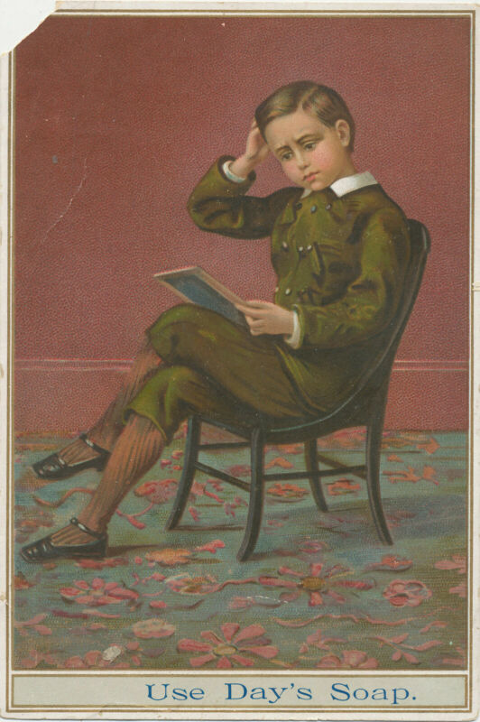 D2557  VICTORIAN TRADE CARD DAYS SOAP