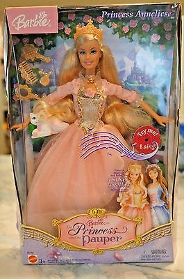 Barbie as Princess and the Pauper Singing Doll Princess Anneliese - New in Box