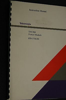 Tektronix Tm 504 Power Module 070-1716-01 Instruction Manual