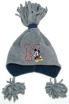 Neu! Disney Mickey Mouse Fleecemütze Winter-Mütze Ohrenschutz grau - Disney Mickey Ohren