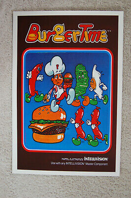 Burger Time  promotional poster INTELLIVISION