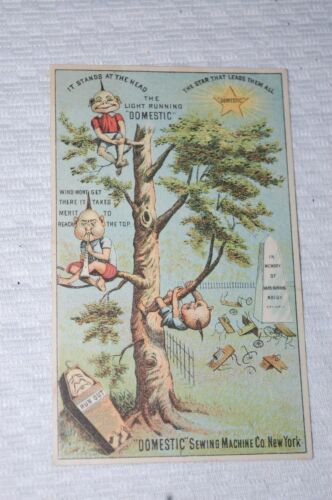 "ANTIQUE TRADE CARD ""DOMESTIC SEWING MACHINE CO"" NEW YORK"