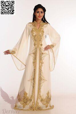 Bridal Women Kaftan Islamic Abaya Belt New MOROCCAN Farasha Jilbab Dress #K35