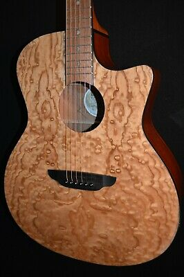Luna Gypsy Quilt Ash Gloss Natural Acoustic ELECTRIC Guitar - Free Shipping!