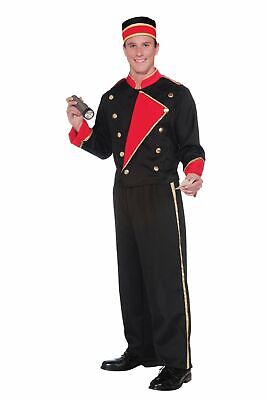 Movie Usher Costume (Classic Hollywood Vintage Usher Movie Costume Adult Men Jacket Pants Hat)