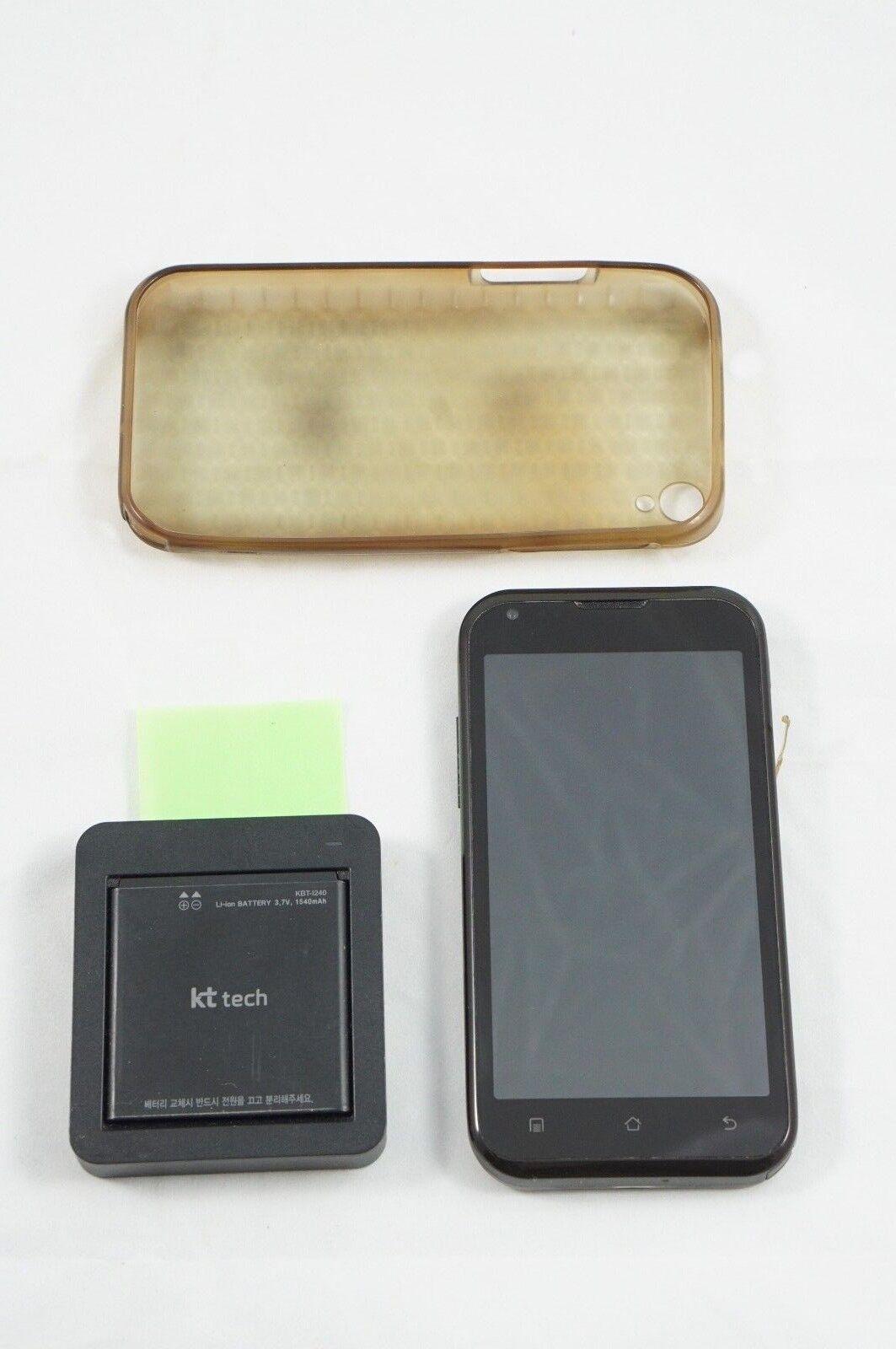 KT Tech JANUS TAKE KM-S200 Cellphone Olleh Korea International Black USED