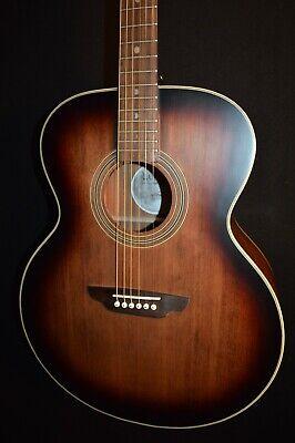 Luna Art Vintage Jumbo Acoustic Electric Guitar - Free Shipping!
