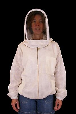 Professional Beekeeping Ventilated Jacket With Fencing Veil - Large