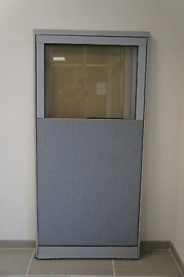 30-14w X 64h Office Partition Panel With Partial Windowsteelcase
