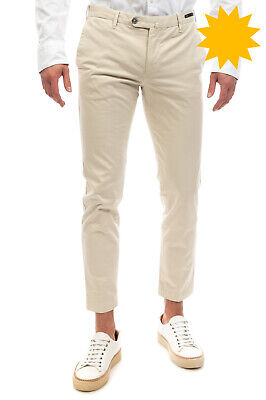 RRP €140 PT01 Chino Trousers Trousers Size 48 / M Stretch Flat Front Skinny Fit
