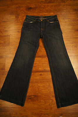 The Limited Jeans Womens size 12 Wide Leg Flap Pockets Denim Flap Pocket Wide Leg Jeans